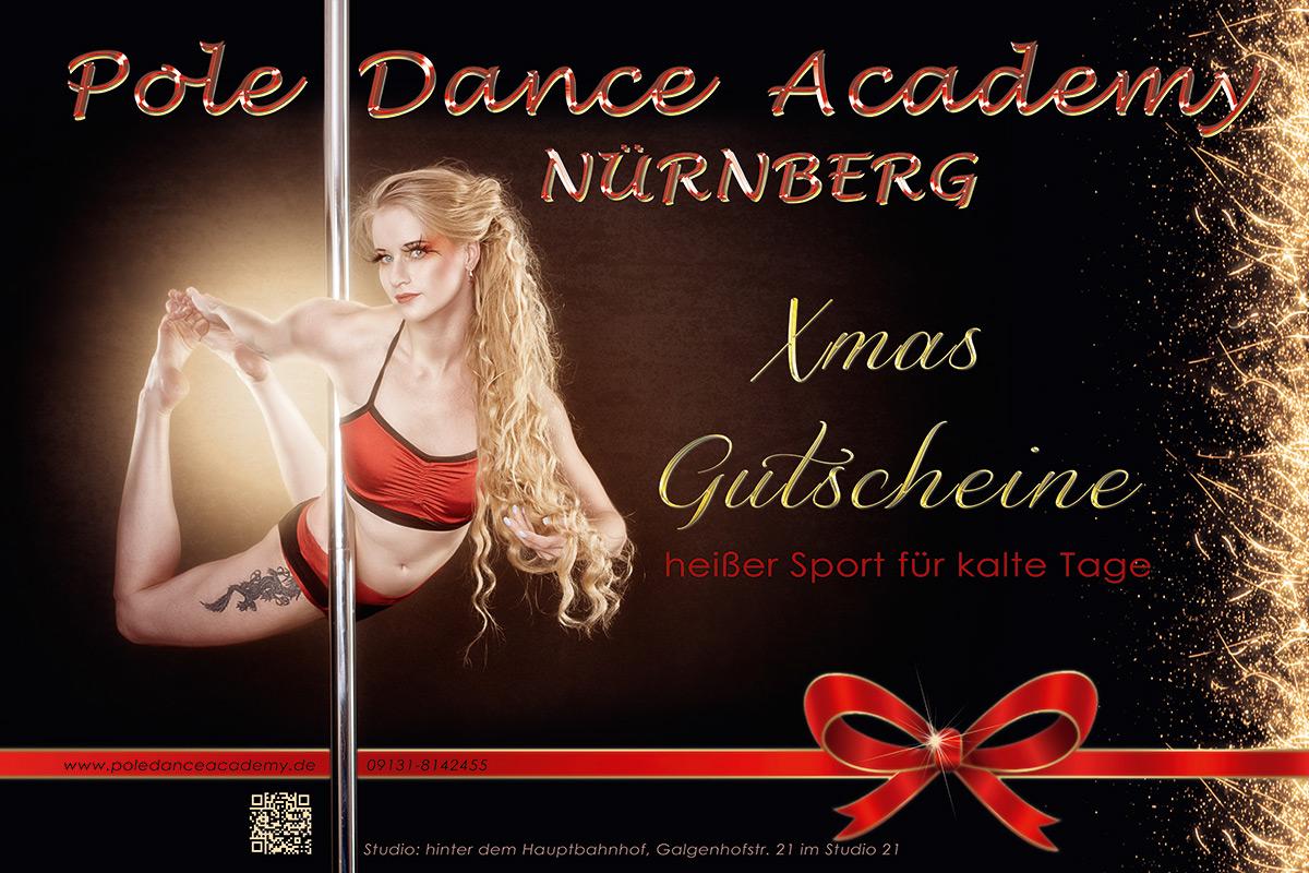 Werbung Gutscheine Weihnachten 2017 Pole Dance Academy Nürnberg
