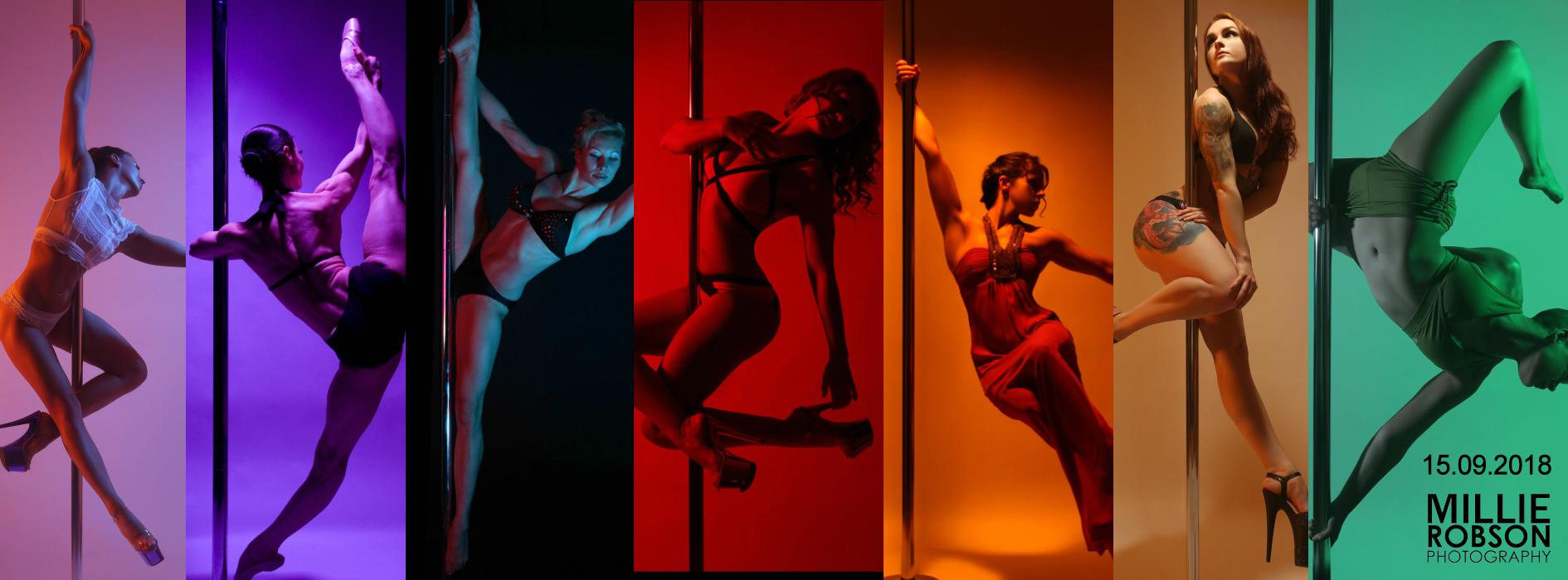 Millie Robson in der Pole Dance Academy