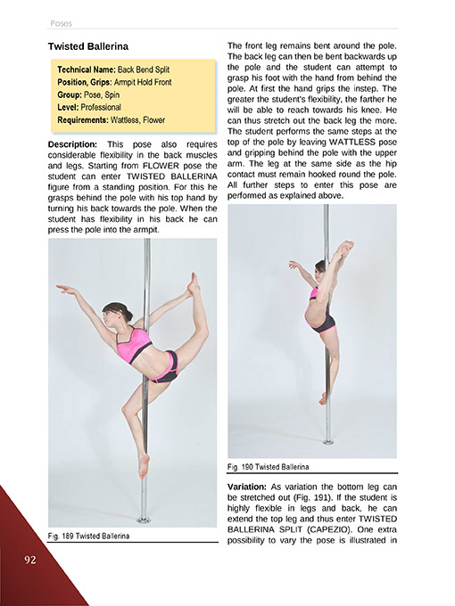 reading example Pole Dance and Fitness - Technique Manual