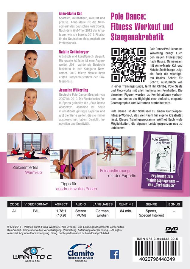 Pole Dance und Fitness DVD Rückseite Jeannine Wilkerling