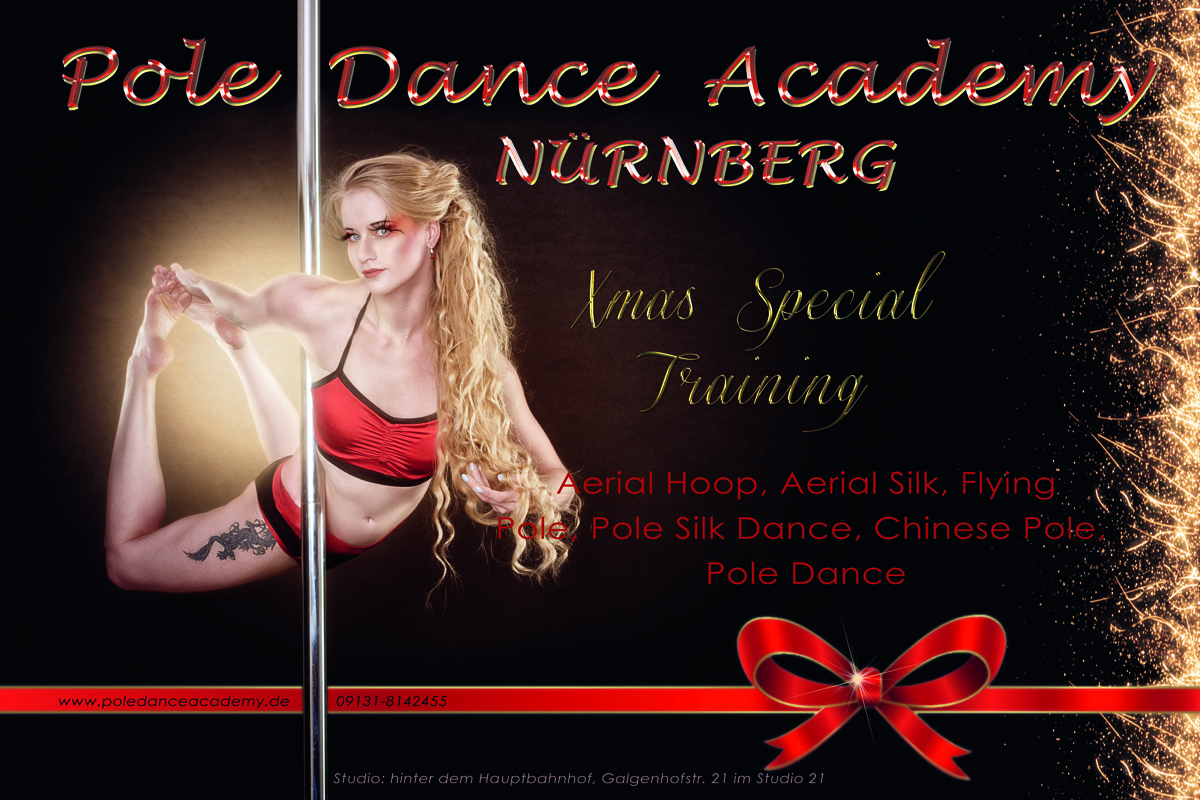 Weihnachtsspecial Training Pole Dance Academy Nürnberg